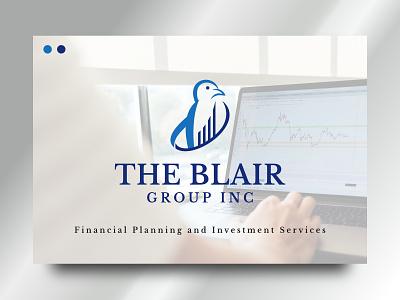 The Blair Group INC vector logo design design identity visual branding brand chart penguin memorable logos logo finance