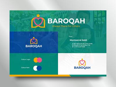 Baroqah logo branding brand b human humanity public care social design designlogo web app identity visual vector memorable simple logos logo