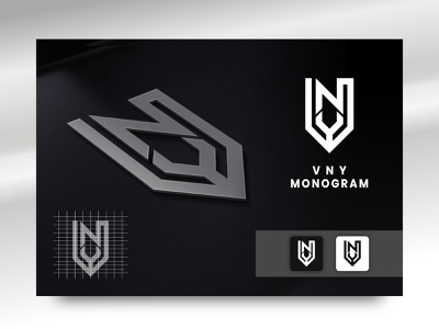 Monogram Logo V N Y adventure memorable personal initial identity visual sport gym masculine modern simple monogram branding brand logo