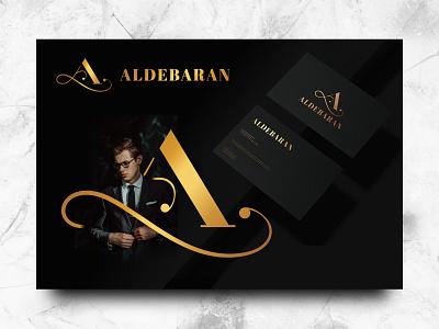 ALDEBARAN apparel vector visual identity modern personal branding card luxury elegant simple branding brand logo