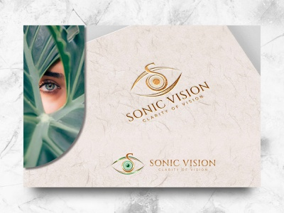 Sonic Vision graphic identity illustration art logo design luxury elegant graphic design vector card doctor optometry eye branding brand logo