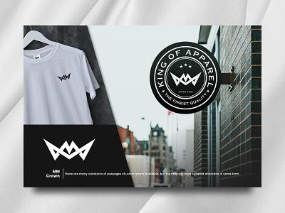M Crown shirt merk apparel icon identity graphic design art branding brand vintage illustration logo ux ui lord king monogram crown