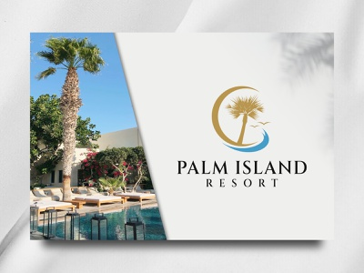 Palm Island Resort grapich design design brand island vector palm apartment ui resort sea illustration logo