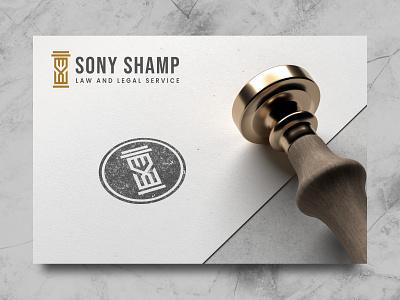 Sony Shamp Logo service formal app logo logo maker symbol modern logo icon pillar law letter logo logo designer identity monogram letter typography logo design print logo brand style s logo