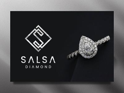 Salsa Diamond ring necklace jewellery woman luxury diamond s logo brand print typography letter monogram identity logo designer letter logo icon modern logo symbol logo maker app logo