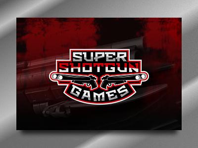 Super Shotgun masculine logo maker app logo gaming games logo brand vector illustration design games gun shotgun