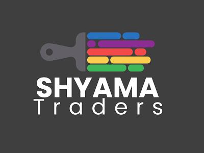 Shyama Traders vector web painting icon art graphic design minimal logo branding design