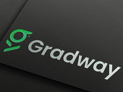 Gradway art vector illustrator ux ui graduation cap painting typography illustration flat minimal graphic design branding design logo