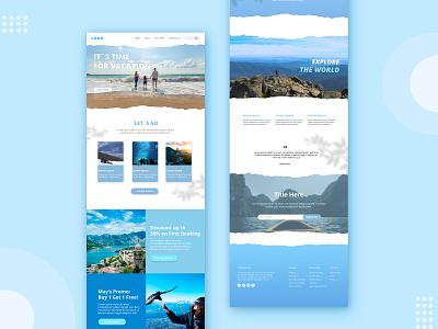 Travel World web website design travel agency travel app travel design ux ui graphic design branding webdesign