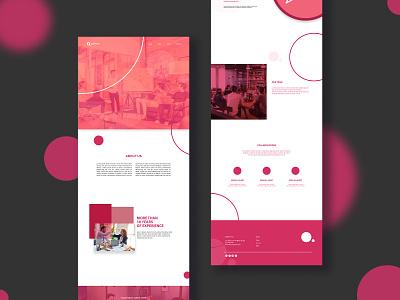 Landing page Business brand design business black pink design web ui ux graphic design landing page design