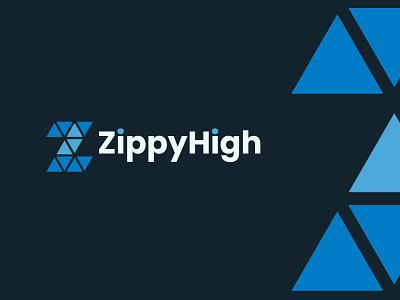 ZippyHigh illustrator typography art vector z letter logo design branding minimal flat graphic design logo