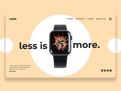 Less is more art illustrator web design website animation website design icon illustration vector typography flat ux web ui minimal logo design graphic design branding