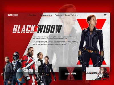 Marvel Studios - Black Window amazing ui design black widow marvel marvel comics marvel studios website design uiux ux web graphic design branding design ui