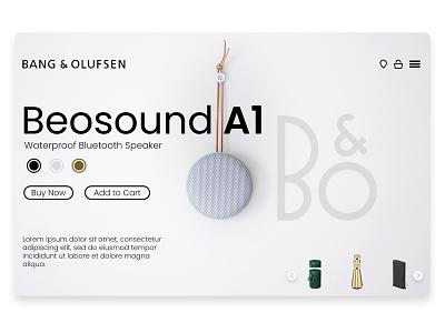 B&o uidesign uiux app homepage webdesign speaker web ui ux typography branding graphic design design