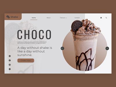 ChocoShake landing page ui design flat ux vector illustration ui minimal graphic design branding design