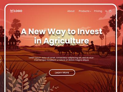 Invest in Agriculture farmer farming investor website design web design uiux agriculture ux vector ui illustration flat minimal logo graphic design branding design