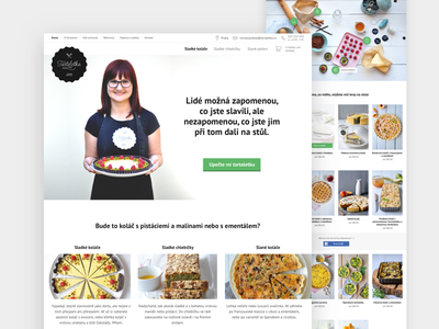 Making tarts (is) a serious business web light categories hero image webpage pastry chef redesign list of products ecommerce landing page clean white