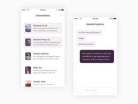 🔮 Messaging screens