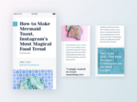 ✨ Article screen exploration: How to make mermaid toast