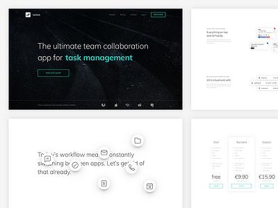 🌌 Gettick: Product website icons floating website microsite minimal clean white space desktop landing page