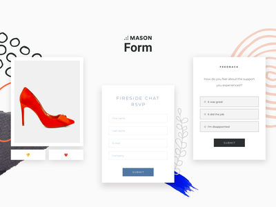 FORM - Front-end Feature Kit from Mason white minimal poll voting feedback form rsvp ui kit form