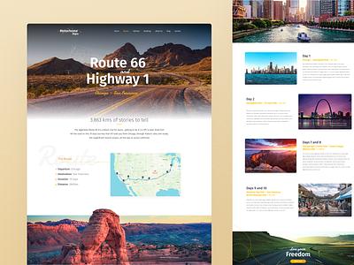 RV Rental Website | Itinerary page web design rental fresh motorhome rv itinerary route travel ux ui website webdesign