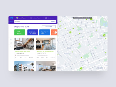 Property Details Transition | Property Search and Evaluation PWA ux design ux ui ui design interation transition web design pwa app product design animation 3d apartment map realtor property search real estate