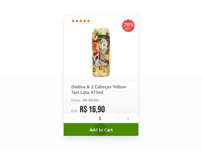 Beer E-commerce Product Card Redesign ux design ux ui ui design redesign before after web design animation add to cart beer component card product shopping shop ecommerce