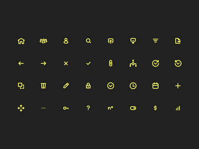 Iconography | PAT platform dashboard product design campaign management icon set iconography icon