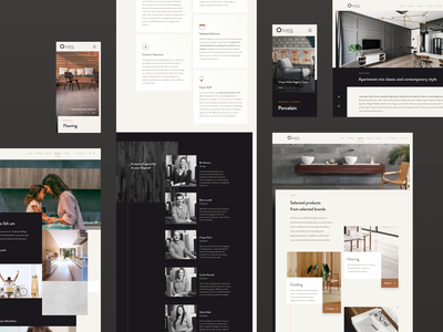 High-end Decor Store Website Pages | Kinta Decor Redesign figma webdesign catalog store ui design high-end sober grid minimal clean website decor