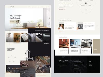 Decor Store Home Page | Kinta figma webdesign architecture website ui design clean minimal modern high-end decor
