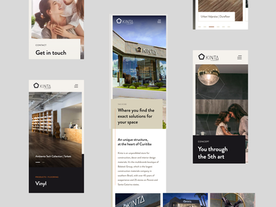 Decor Store Mobile Screens | Kinta Decor figma architecture store decor sober grid modern clean ui design webdesign mobile