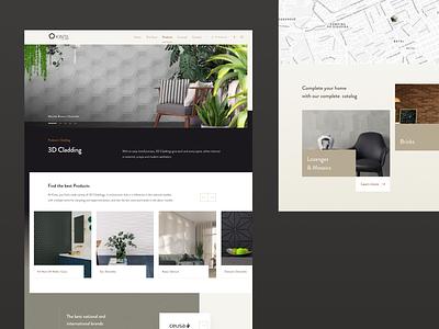 Product Category | Kinta Decor figma grid modern product interface ui design architecture web design website decor