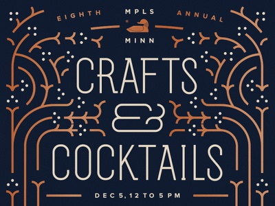 WIP Snapshot - C & C MPLS north star minneapolis crafts distillery cocktails winter poster