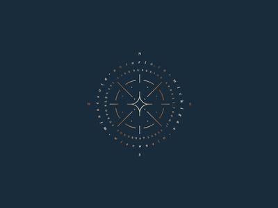 Compass detail stars michigan wisconsin ontario minnesota lake copper graphic typography design compass