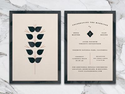 layout / illustration print yosemite gouache watercolor illustration abstract flower design layout invitation wedding