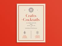 Crafts & Cocktails Poster