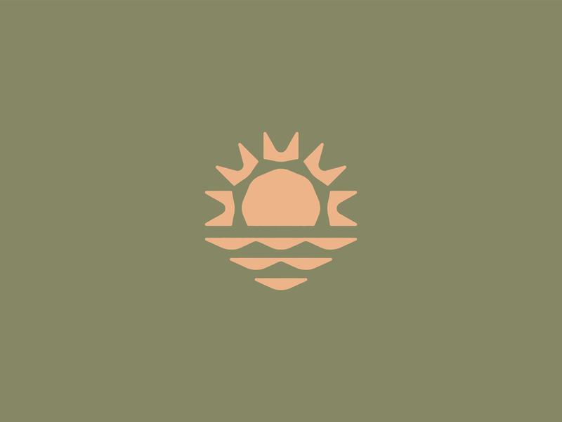 Triangle-y sunrise abstract nature color earthtones product brand identity design geometry triangles logo sun sunrise