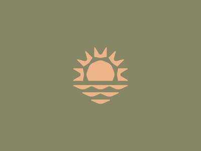 Triangle-y sunrise abstract nature color earthtones product brand identity design geometry triangles logo sun sunrise
