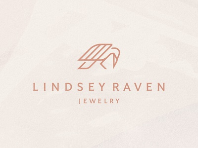 Lindsey Raven Jewelry typography raven craft jewelry water color brand identity design