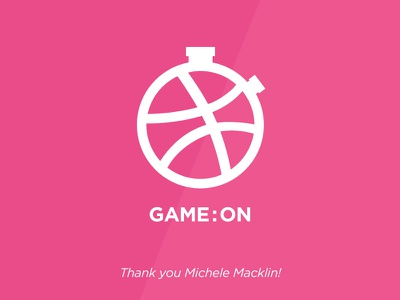Game:On debut dribbble invite thanks game on stopwatch