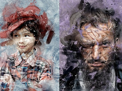 Abstract Paint Photo Effect - Photoshop Action art photo effects photo effect photo action effects photoshop effects photoshop effect photoshop actions photoshop action photoshop logo design effect realistic professional digital photomanipulation manipulation action illustration