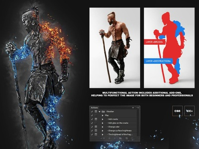 Obsidian Photo Effect - Photoshop Action photo effect photo photoshop effects photoshop effect photoshop actions photoshop action photoshop motion graphics graphic design 3d animation illustration effect realistic professional digital photomanipulation manipulation action design