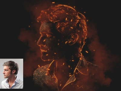 Hell Fire Effect - Photoshop Action photography fire actions fire action photoshop action photoshop effects photoshop effect photoshop fire effects fire effect fire logo illustration design effect realistic professional digital photomanipulation manipulation action
