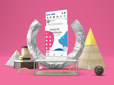 Display Screens & Facebook Mockups web website ux ui presentation theme macbook mac laptop display simple clean realistic phone mockup smartphone device mockup abstract phone facebook