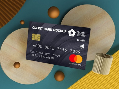 Credit Card Mockups webpage website ux ui presentation theme macbook mac laptop display simple clean realistic phone mockup smartphone device mockup abstract phone credit card
