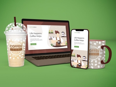 Responsive Devices Mockups website webpage web ux ui presentation theme macbook mac laptop display simple clean realistic phone mockup smartphone device mockup abstract phone