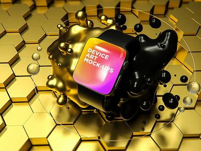 Device Art MockUp website webpage web ux ui presentation theme macbook mac laptop display simple clean realistic phone mockup smartphone device mockup abstract phone