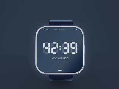 Smart Watch Mockup webpage web ux ui presentation theme macbook mac laptop display simple clean realistic phone mockup smartphone device mockup abstract smart watch phone