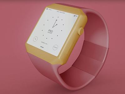 Smart Watch Mockup webpage web ux ui presentation theme macbook mac laptop display simple clean realistic phone mockup smartphone device mockup abstract phone smart watch